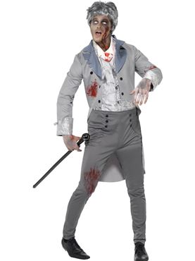 Adult Zombie Gent Costume Thumbnail