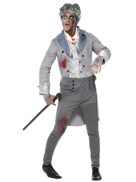Adult Zombie Gent Costume Couples Costume