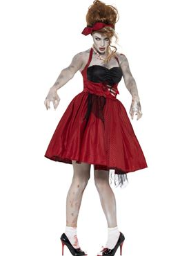 Adult Zombie 50s Rockabilly Costume