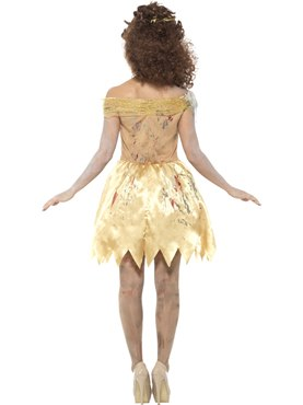Adult Zombie Golden Fairytale Costume - Side View