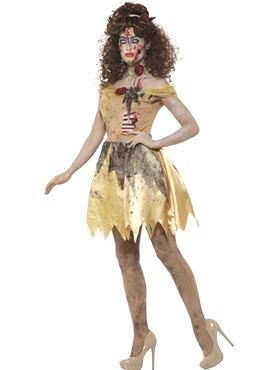 Adult Zombie Golden Fairytale Costume - Back View