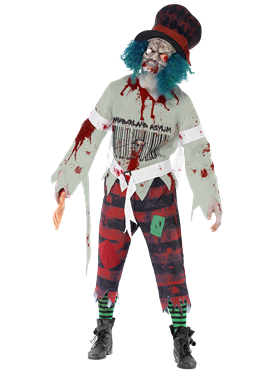 Adult Zombie Hatter Costume Couples Costume