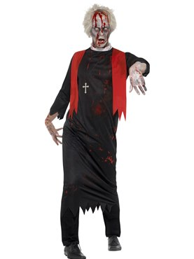 Adult Zombie High Priest Costume Couples Costume