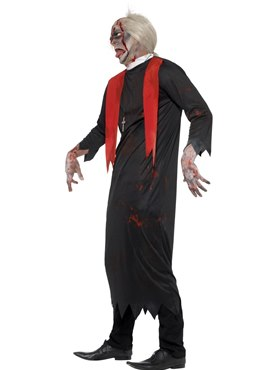 Adult Zombie High Priest Costume - Back View