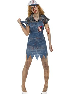 Adult Zombie Hillbilly Costume Couples Costume