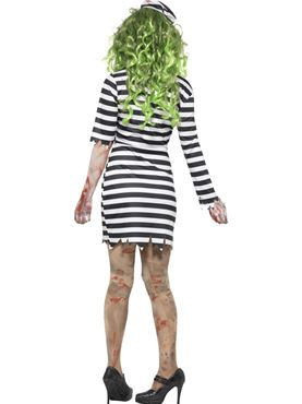 Adult Zombie Jail Bird Costume - Side View