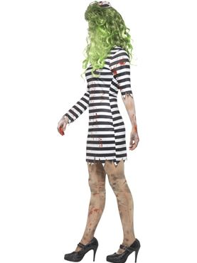 Adult Zombie Jail Bird Costume - Back View