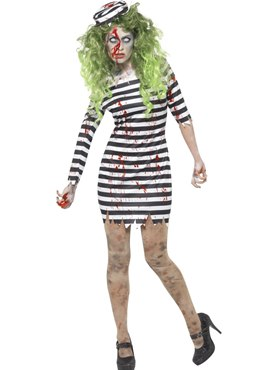 Adult Zombie Jail Bird Costume