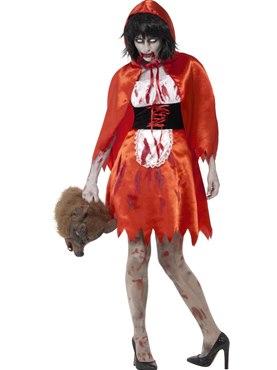 Adult Zombie Little Miss Hood Costume