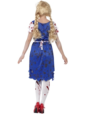 Adult Zombie Bavarian Female Costume - Side View