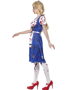 Adult Zombie Bavarian Female Costume - Back View
