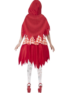 Adult Zombie Red Riding Costume - Side View