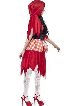 Adult Zombie Red Riding Costume - Back View