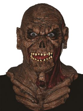 Adult Zombie Mask & Shoulders