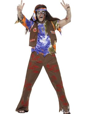 Adult Zombie 60s Hippie Costume Thumbnail