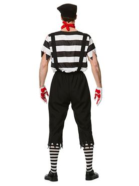 Adult Zombie Mime Guy Costume - Side View