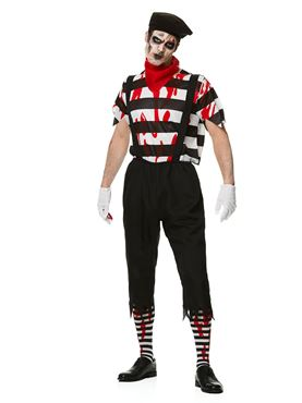 Adult Zombie Mime Guy Costume