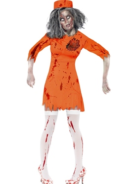 Adult Zombie Death Row Diva Costume Thumbnail