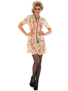 Adult Zombie Nurse Costume Couples Costume
