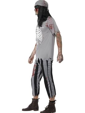 Adult Zombie Pirate Costume - Back View