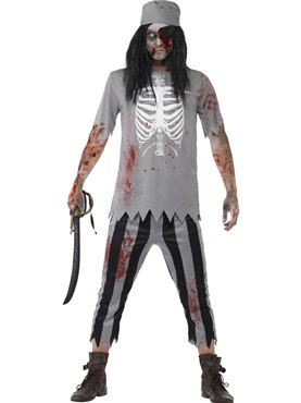 Adult Zombie Pirate Costume Couples Costume