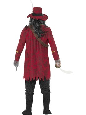 Adult Zombie Pirate Costume - Side View