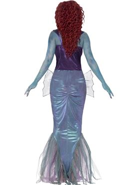 Adult Zombie Mermaid Costume - Back View