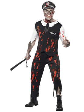 Adult Zombie Policeman Costume Couples Costume