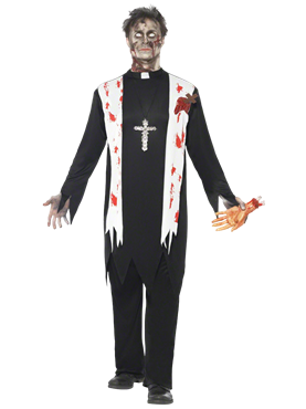 Adult Zombie Priest Costume Couples Costume
