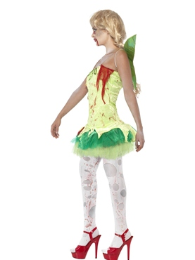 Adult Zombie Tink Fairy Costume - Back View