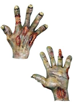 Adult Zombie Rotted Latex Hands