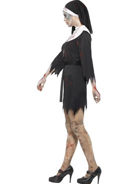 Adult Zombie Sister Costume - Back View