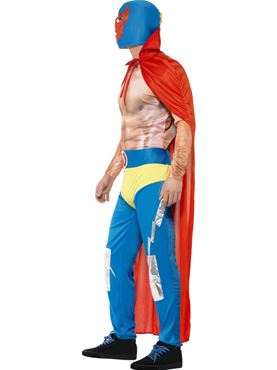 Adult Mexican Wrestler Costume - Back View