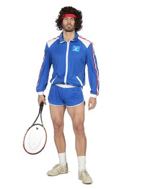 Adults 80's Tennis Player Costume