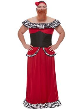 Adults The Greatest Showman Bearded Lady Costume - Back View