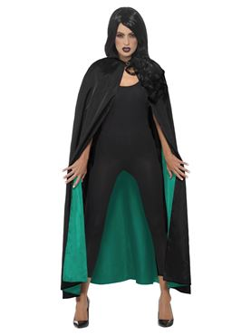 Adult's Deluxe Reversible Witches Cape - Back View