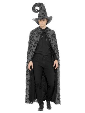 Adult's Deluxe Spell Caster Cape - Side View