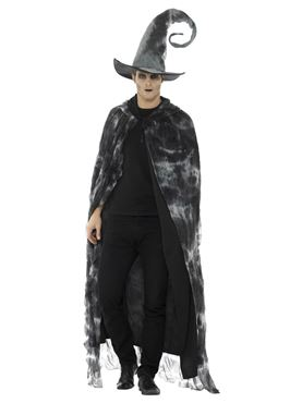 Adult's Deluxe Spellbound Decayed Cape - Side View