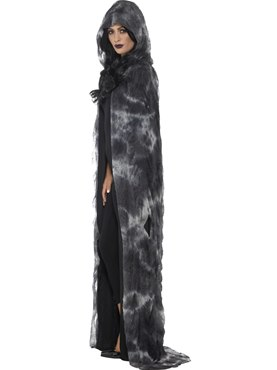 Adult's Deluxe Spellbound Decayed Cape - Back View