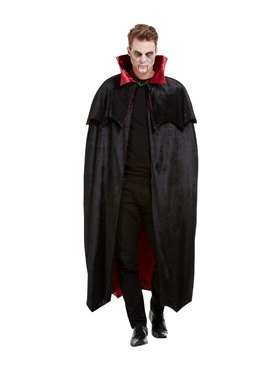 Adults Deluxe Vampire Cape - Side View