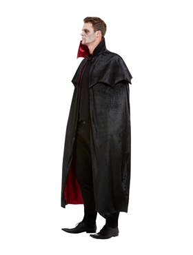 Adults Deluxe Vampire Cape - Back View