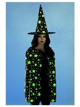 Adult's Midnight Glow in the Dark Witch Kit - Back View