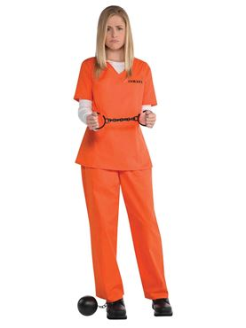 Adults Orange Inmate Costume