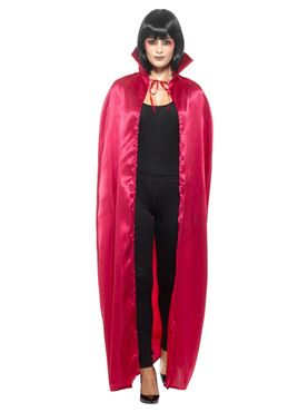 Adult's Red Satin Devil Cape - Back View