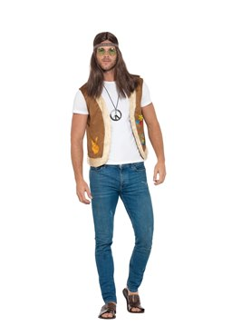 Adults Unisex Hippie Waistcoat