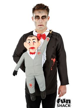 Adults Ventriloquest and Dummy Costume - Back View