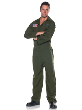 Adult Deluxe Air Force Jumpsuit Costume