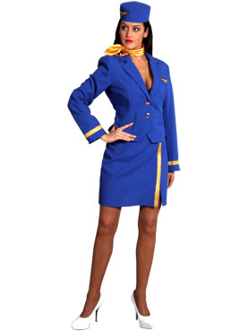 Air Hostess Costume BLUE
