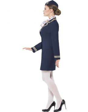 Adult Airways Attendant Costume - Back View