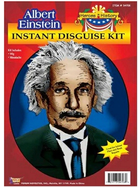 Adult Albert Einstein Wig and Moustache - Back View